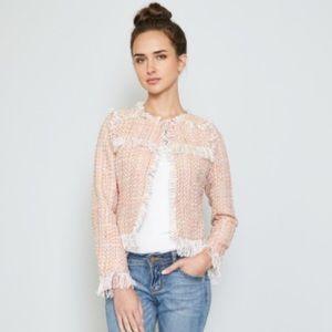 NWT Pink Tweed Blazer